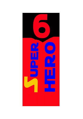 Super Hero 6 logo x2